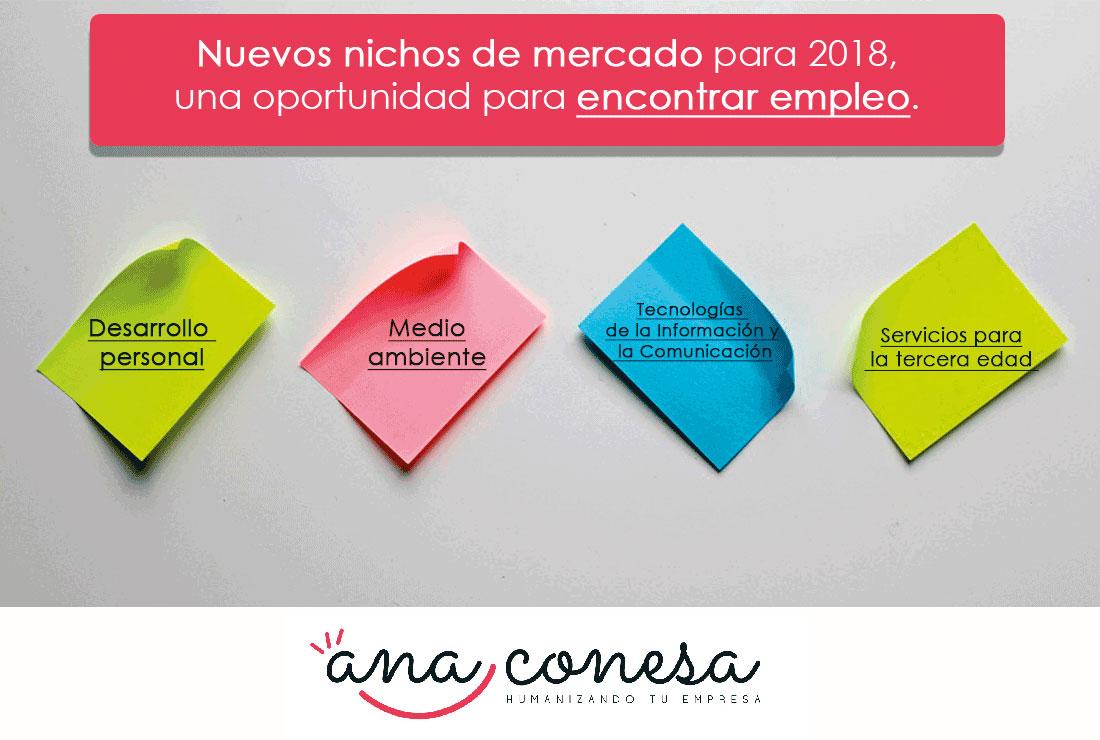 Nuevos nichos de mercado para 2018
