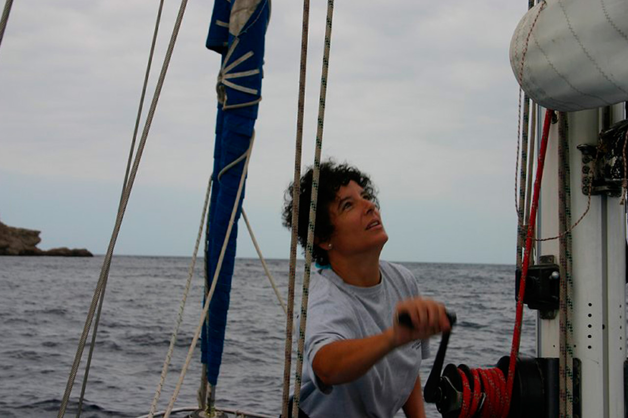 Esperanza Pérez Pérez-Crespo, primera española en atravesar el Atlántico en solitario
