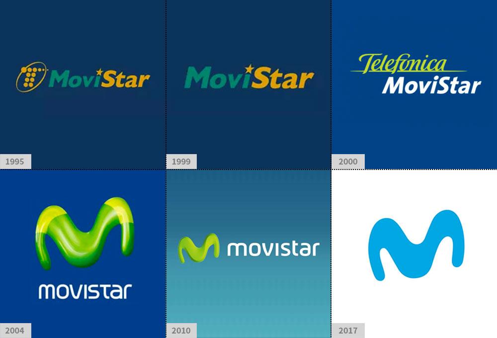 Evolución de la marca Telefónica a Movistar de su identidad de marca