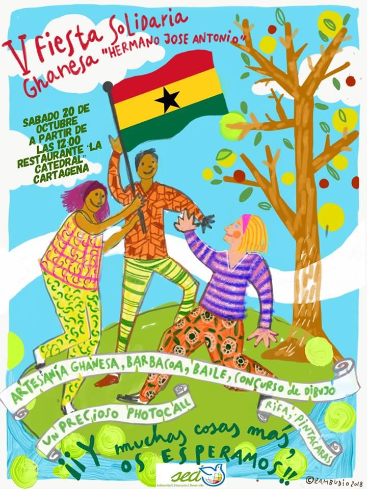 Fiesta solidaria ghanesa, hermano Jose Antonio
