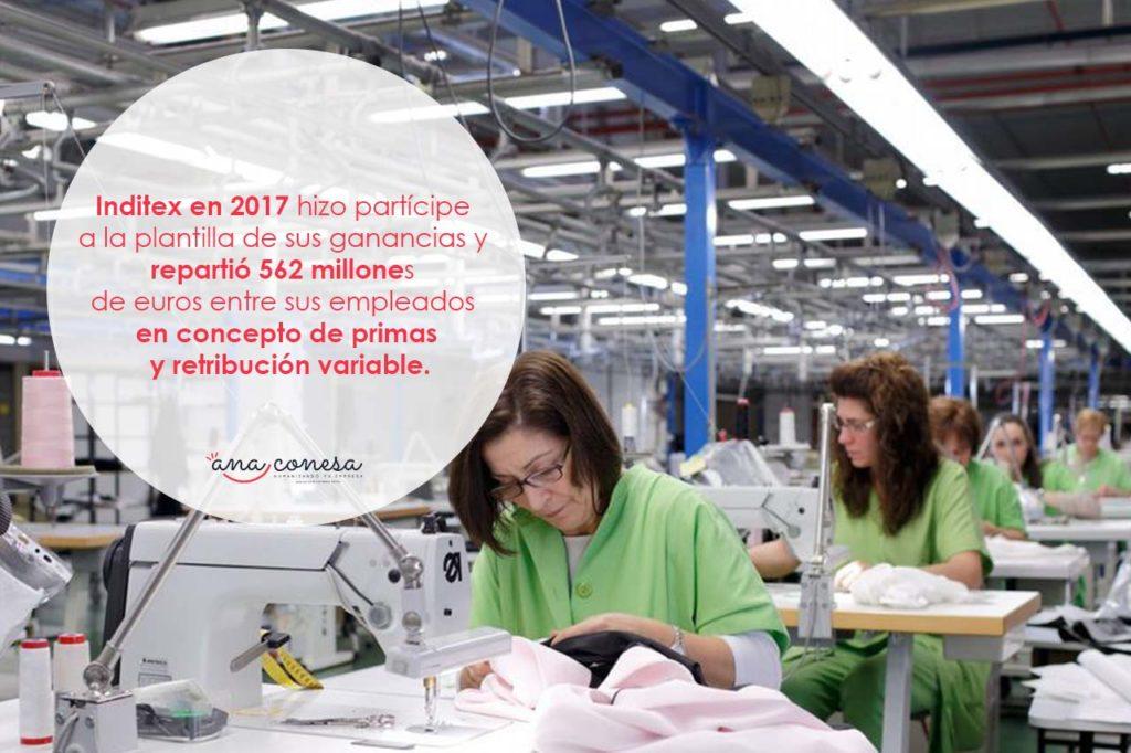 Inditex reparte beneficios con sus trabajadores en 2017
