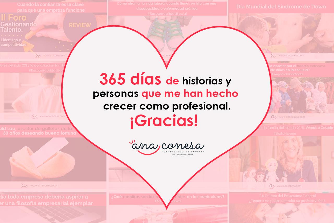 365 días de historias y personas que me han hecho crecer como profesional